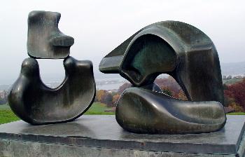 Heavy metal: Henry Moore sculpture @ Wolfsberg (©JE)