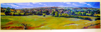 Little Rissington, by Caroline Elkington 2003, 11 x 3 feet (©JE)