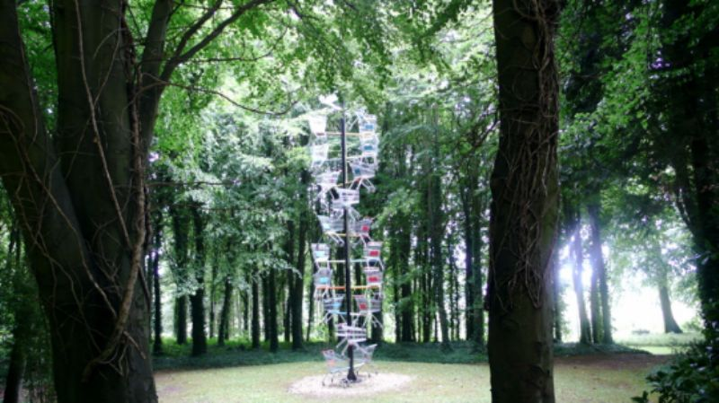 Spiralling supermarket trolleys: DNA DL90 by Abigail Fallis
