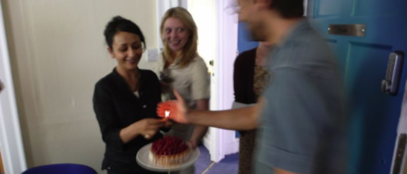Ale's birthday cake - with match instead of candles