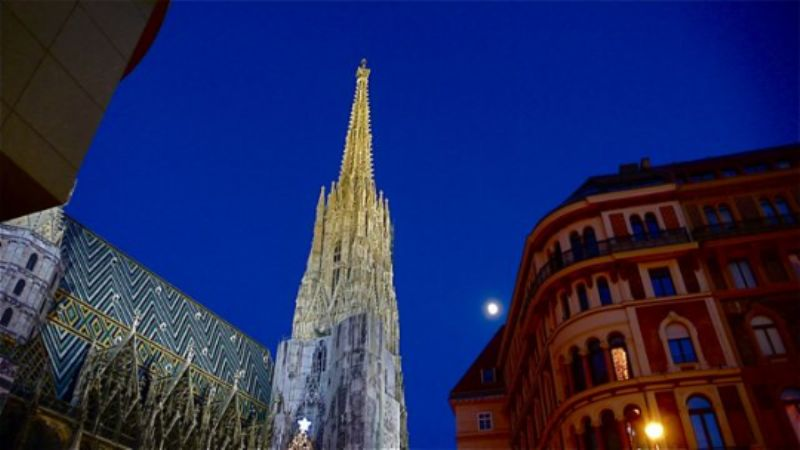 St Stephen's Cathedral and Moon