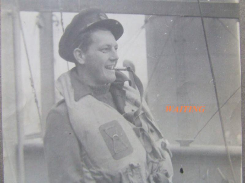 Tim on CAM ship, 1942