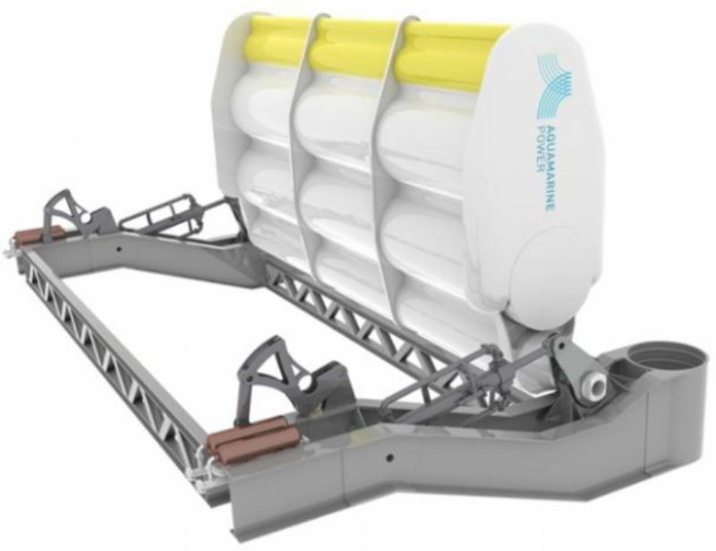Oyster wave energy device