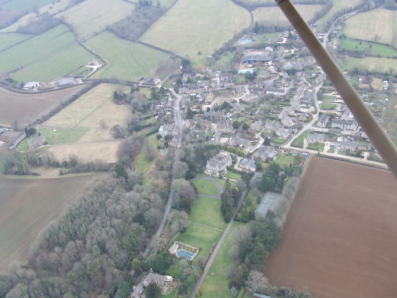 Little Rissington from the air