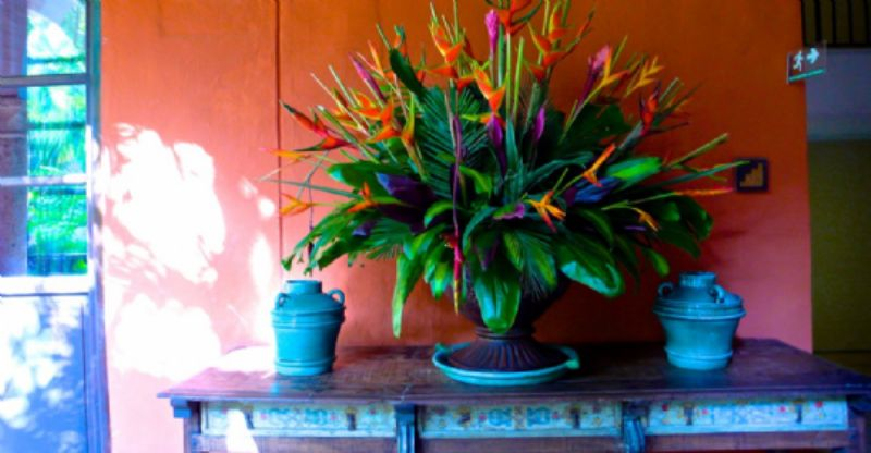 Flowers in Hotel Santa Clara