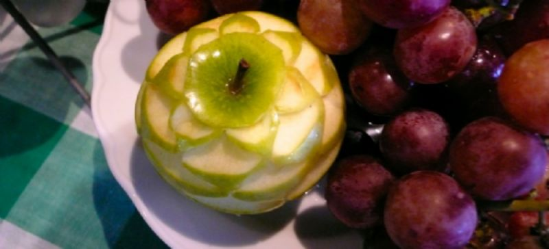 Carved apple