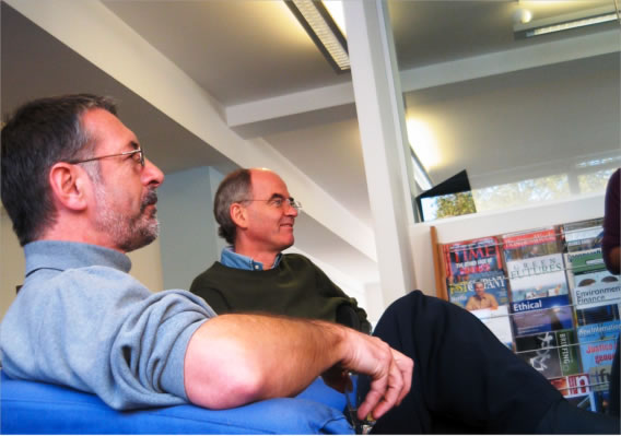 Geoff (Lye) and I: He put SustainAbility on a sound business footing, I read the magazines.