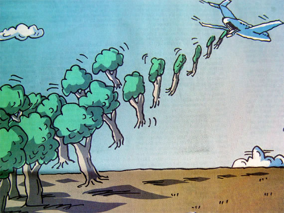 Treed: Section of a cartoon that appeared with a long (and not always favourable) profile of me in the Wall Street Journal Europe