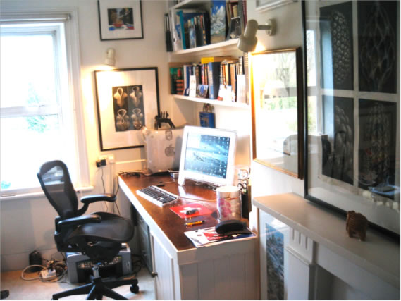 Incubator: The back study in Barnes where I have written 17 books to date—and where Julia and I wrote back-to-back for several years.