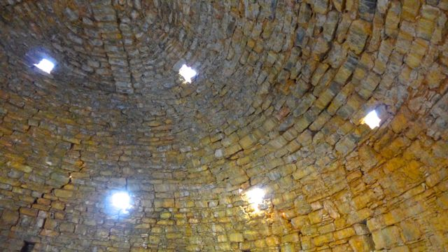 Inside the cistern, looking  up at the heavens