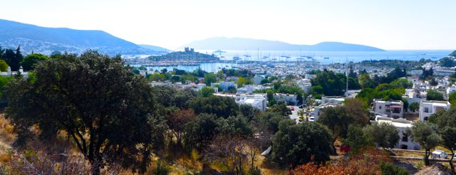 Panorama of Bodrum from the Greek theatre