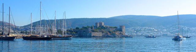 Bodrum castle hoves in view