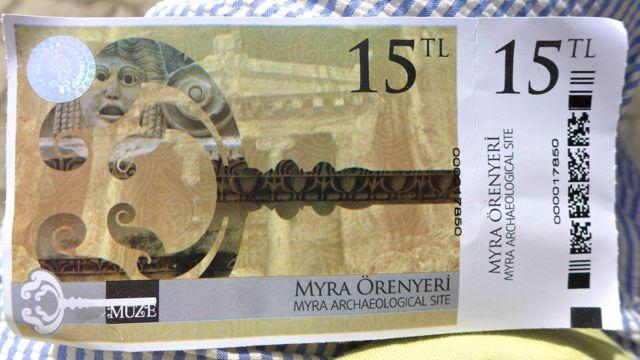 Ticket to Myra's wonders