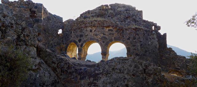 Eyeless ruin on island of Gemiler