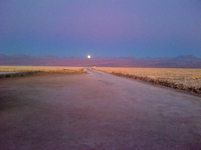 ... and a glorious Full Moon rising over the Andes.