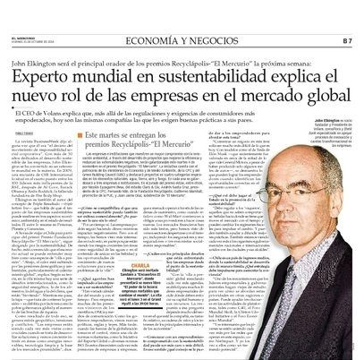My visit trailed a few days back in El Mercurio