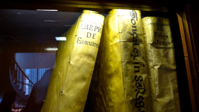 And here are some of the old lambskin-bound tomes in which the law was originally laid down