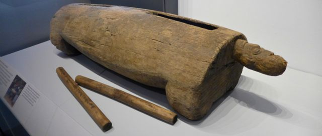 Log drum from Bafut, Cameroon