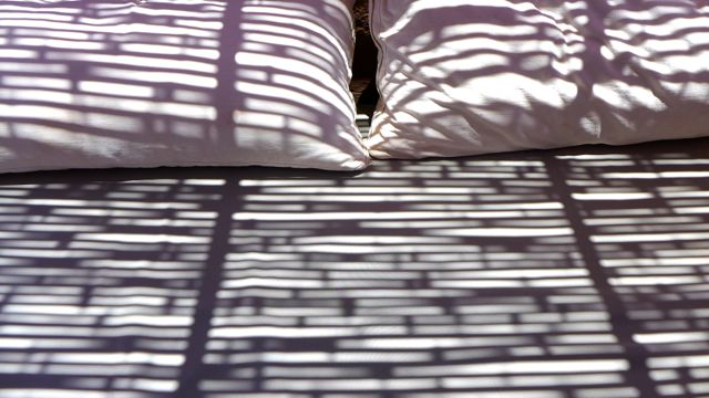 Shadows on my outdoor cushioning