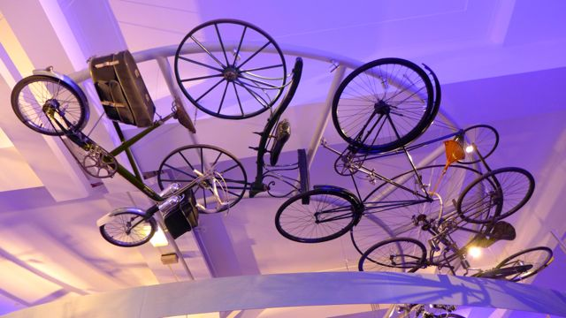 Science Museum: cycling ceiling