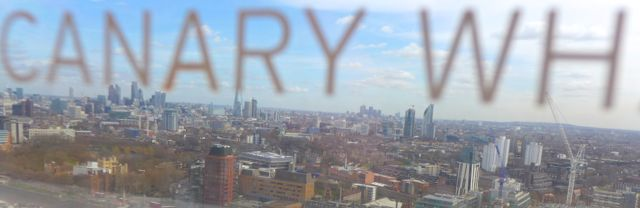 A view towards Canary Wharf from Millbank Tower