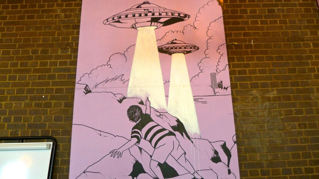 UFO painting inside the real venue