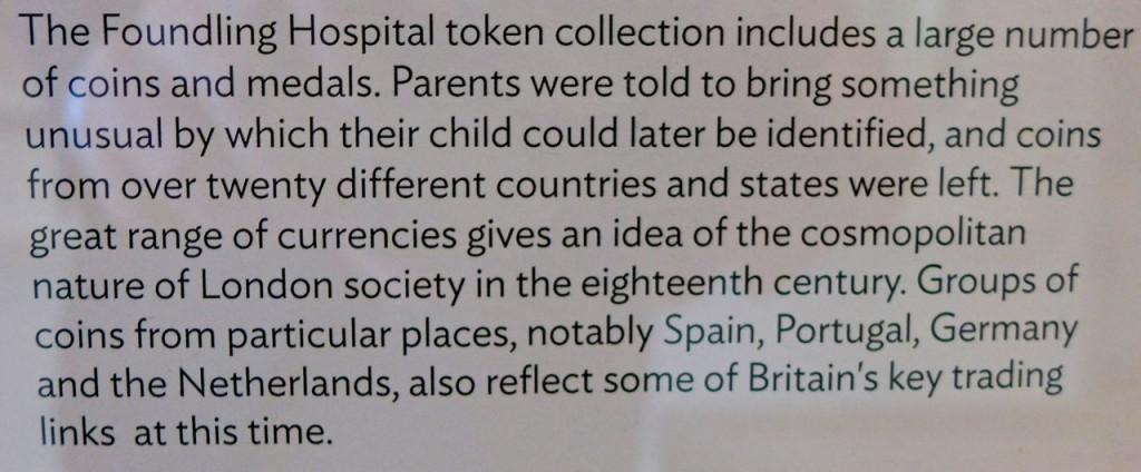 Note on one indication of how international London was, even way back then