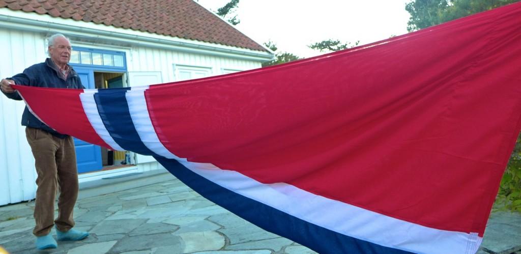 Furling the flag - or was it unfurling?