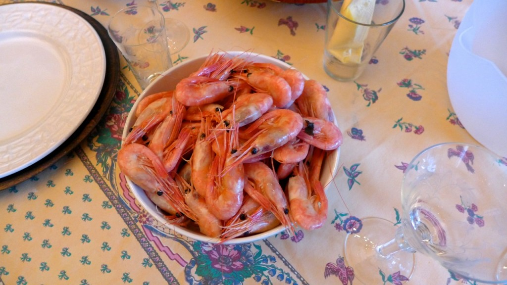 Greenland shrimps before we head off for the airport