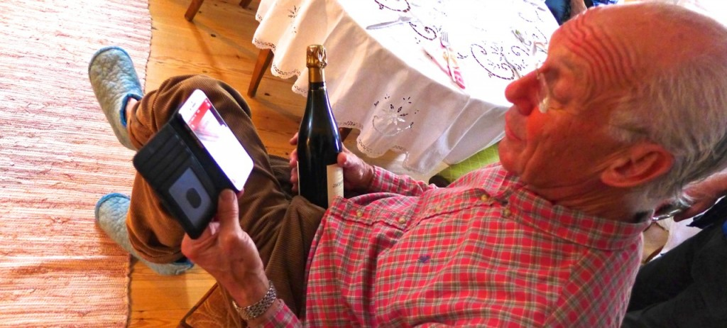 Checking the provenance of a gift bottle of champagne online