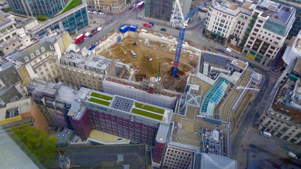 A view from the 23rd floor of the Aviva Undershaft building