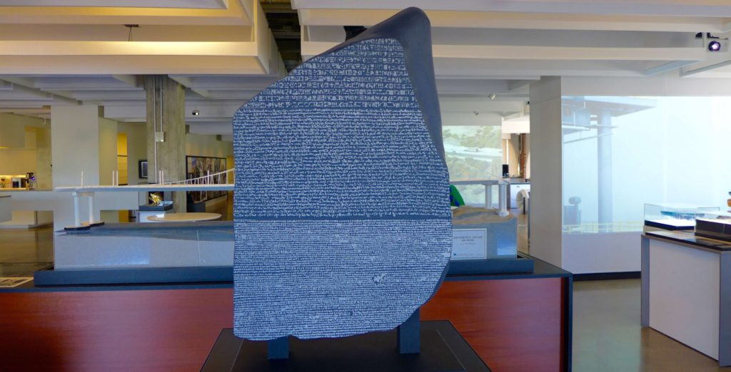3D printed copy of the Rosetta Stone